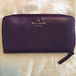 Purple Kate Spade Wallet